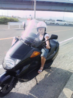 レンタルバイク借りて